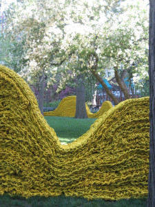Textile-art-installation,-Madison-Square-Park.-Artist-Orly-Genger