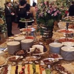 Buffet table in the East Room